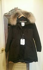 NEW Authentic Women's Moncler Arriette Down Fur Coat Jacket size 3(L)bl,10%off