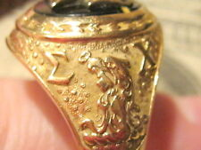 ANTIQUE SIGMA CHI 14K YELLOW GOLD FRATERNITY MANS CLASS RING SIZE 12.5 18 GRAMS