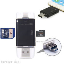 USB Flash Drive SD TF Card Reader Adapter For iPhone 7 6s 6 Plus 5 iPad Air Mini