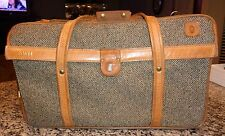 "Hartmann 3-Compartment Tweed & Belting 21"" Carry-On Bag 747 Over Suit-O-Matic"