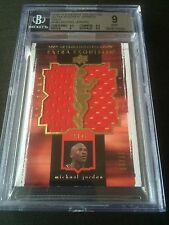 2009-10 UD Extra Exquisite Gold patch jersey MICHAEL JORDAN 17/25 BGS 9 MINT
