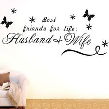 Husband And Wife Wall Quotes decal Removable Stickers Decor Vinyl Home Art DIY