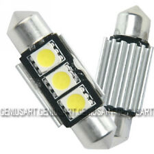 2X Bombillas 3 LED SMD 36mm Canbus No Error Luz Blanca para Interior del Coche