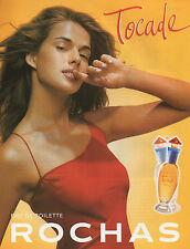 Publicité Advertising 2001  Parfum Tocade de ROCHAS  eau de toilette pour femme