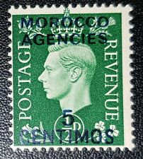 MOROCCO AGENCIES SG165 1937 5c on ½d GREEN M/M (No1660)