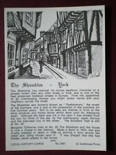 POSTCARD YORKSHIRE YORK THE SHAMBLES LOCAL HISTORY CARD