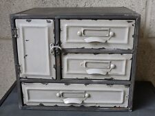 Vintage Retro Industrial Style Metal Cabinet Drawer Storage Cupboard Distressed