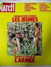 PARIS MATCH N° 1247 SERVICE MILITAIRE AFFAIRE BRUAY NOTAIRE LEROY GUETTY 1973