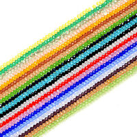 New Faceted 20/50 Pcs Rondelle Exquisite Crystal Glass 10mm Beads U Pick Colors
