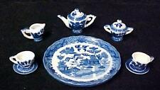 Blue Willow Childs 10 piece Miniature Mini Tea Set Birds Pagodas Decorative New