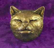 Bronze Black Silver Copper Cat Pet Head Face Wall Plaque Ornament NEW