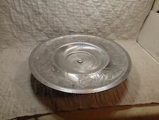 VINTAGE WILSON SPECIALTIES HAND WROUGHT ALUMINUM LAZY SUSAN & CRYSTAL ASH TRAY