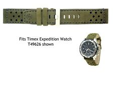 Genuine Timex Watch Strap.Replacement for T49626 Expedition watch - Olive Green
