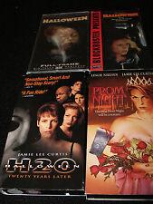 VHS:John Carpenter's Halloween Lenticular 3D 3-D Cover horror H20 Prom night lot