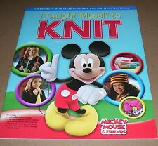 MICKEY MOUSE & FRIENDS I TOUGHT MYSELF TO KNIT BOOK ONLY 2009