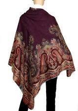NEW ETRO MILANO XLARGE LIGHT WOOL SILK PAISLEY SQUARE SHAWL WRAP SCARF