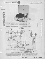 1955 RCA VICTOR 5-EM-23 RECORD PLAYER SERVICE MANUAL PHOTOFACT SCHEMATIC 24 25
