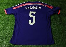 JAPAN # 5 NAGAMOTO 2013/2015 FOOTBALL SHIRT JERSEY HOME ADIDAS ORIGINAL SIZE XL