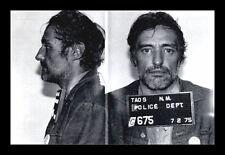 Framed Print - Dennis Hopper Police Mugshot 1975 (Celebrity Crime Picture Poster