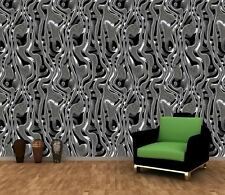 METAL LIQUID ART SILVER TEXTURES Photo Wallpaper Wall Mural 335x236