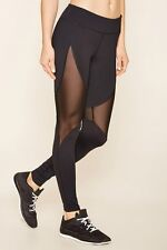 60% OFF!AUTH FOREVER 21 MESH-INSERT WORKOUT ACTIVE LEGGINGS MEDIUM BNEW US$19.90