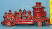 "OLD CAST IRON 5"" FIRE PUMPER ALL ORIGINAL NEAT BUT NO TIRES ***ON SALE***  T127"