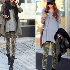 Women's Camouflage Camo Leggings Sexy Skinny Trousers Sheath Cargo Jeggings