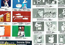 PUBLICITE ADVERTISING 026  1965  Moulinex  robots batteur aspirateur (2p)