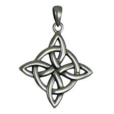 Sterling Silver Witches Quaternary Celtic Knot Wiccan Pagan Pendant Jewelry