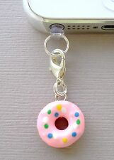 Doughnut cell phone Charm Anti Dust proof Plug ear Cup jack Fit for iPhone C164