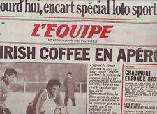journal  l'equipe 26/02/86 FOOTBALL AVANT FRANCE IRLANDE RUGBY