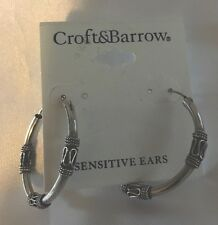 Croft & Barrow Silver Hoop Ear Rings