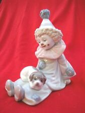 LLADRO PIERROT WITH PUPPY FIGURINE CLOWN #5277 SIGNED 1985 WITH BOX