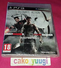 ULTIME ACTION TRIPLE PACK SONY PS3 NEUF JUST CAUSE 2 SLEEPING DOGS TOMB RAIDER