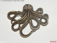 steampunk brooch badge octopus kraken pirate bronze Assassin's creed black sails