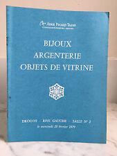 Catalogue de vente Ader Picard Tajan Bijoux Argenterie Salle n°2 28 Février 1979