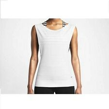 New Nike Top Size S(UK 8-10) /Women Dri-FIT K nit Sleeveless Training White/gym