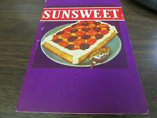 VINTAGE - SUNSWEET - RECIPES - CALIFORNIA PRUNE & APPRICOT GROWERS - 1939