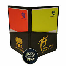 FIFA Fair Play Soccer (Football) Referee Coin Score Sheet Cards and Wallet Combo