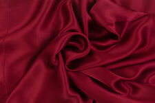 PAIR Luxury 100% Charmeuse SILK Pillowcases Housewife (Wine Red)