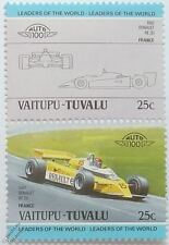 1981 ALAIN PROST RENAULT RE20 GP Car Stamps (Leaders of the World / Auto 100)