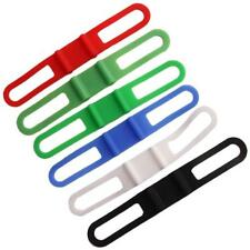 Silicone Cycling Bicycle Tie Strap Bandage Band Mount Holder for Flashlight Y2