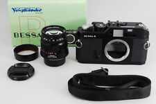 【MINT】 Voigtlander BESSA R black w/ color heliar 75mm F/2.5 MC from japan #199