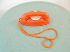 Vtg 1960's Mattel Barbie Red Princess Rotary Dial Telephone Doll Toy Ken Midge