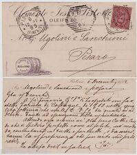 # PISTOIA: testatina- Oleificio CELEMETE TESI - Olio di lino  - 1892