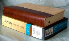ESV Literary Study Bible --soft leather-look, brown/parchment, 2009