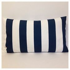 50x30cm Lumbar Premier Prints Indoor/Outdoor Navy/White Stripe Cushion Cover