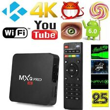 MX TV Box Q PRO 1.5GHZ Android 6.0 Quad-Core WiFi 4K Fully Loaded Media Player