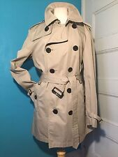 Burberry Brit Kerringdale Short Khaki Trench Coat Jacket Size US M