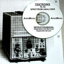 Tektronix 7L13 Spectrum Analyzer Instruction (operating & service) Manual